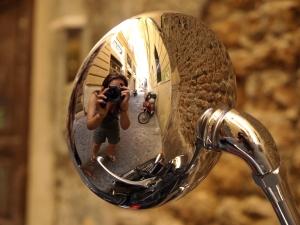 Rome rear view mirror