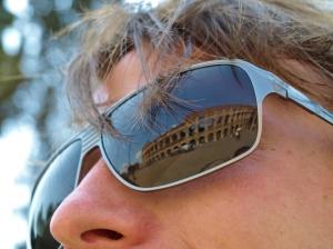 Colosseum reflection