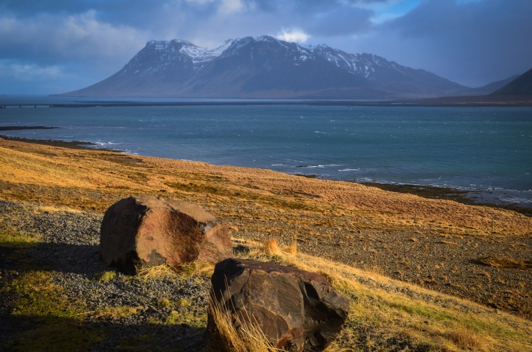 Iceland coast and mountain